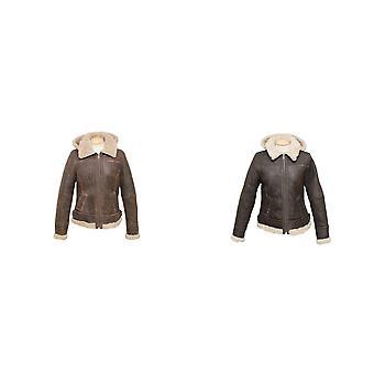 Eastern Counties Leather Womens/Ladies Jessie Hooded Sheepskin Jacket