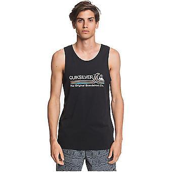 Quiksilver Stein kalte klassische ärmelloses T-Shirt in schwarz