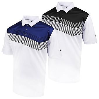 Island Green Mens 2020 IGTS1946 Contrast Yoke Golf Polo Shirt