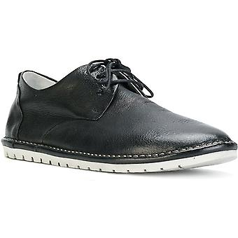 Marsell Sancrispaderby Women's Black Leather Lace-up Shoes