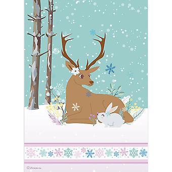 Stamperia Rice Paper A4 Reindeer & Rabbit