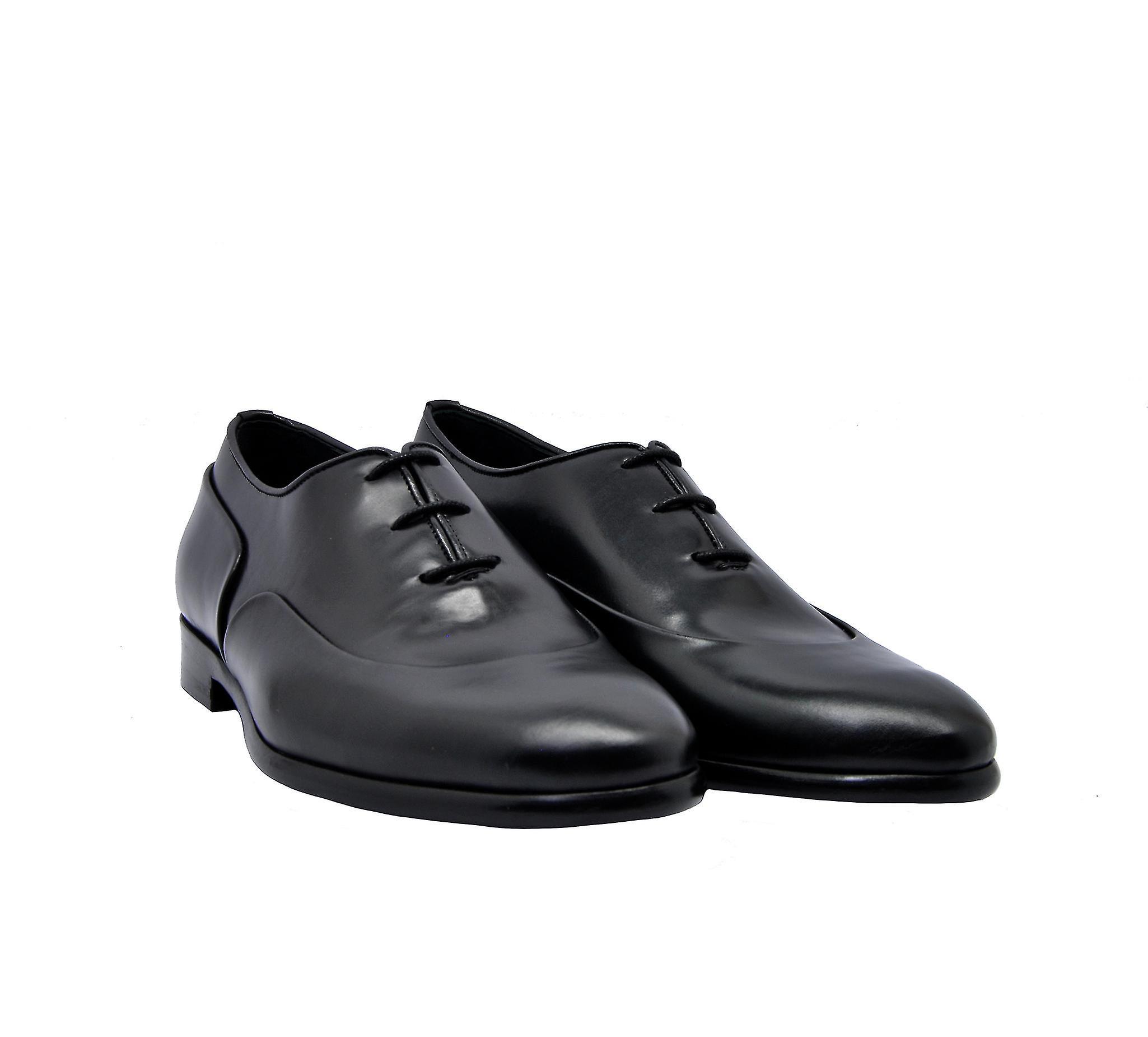 Edhen Montagne Men-apos;s Chaussures à lacets en cuir noir
