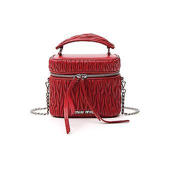 Miu Miu 5bh122f068z Women's Red Leather Shoulder Bag