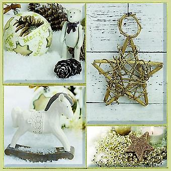 CraftEmotions servetten 5pcs - Kerstdecoratie 33x33cm Ambiente 33310660