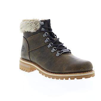 Harley-Davidson Benton  Womens Brown Leather Lace Up Motorcycle Boots