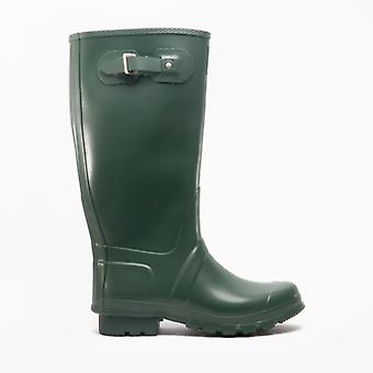 Woodland Country Wide Calf Unisex Buckle Wellington Boots Green