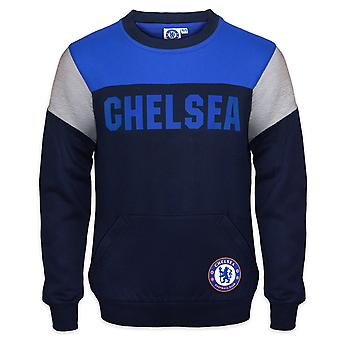 Chelsea FC Officiel Football Gift Boys Crest Sweatshirt Top