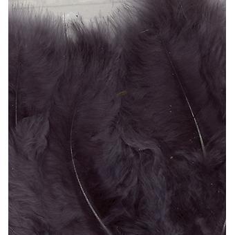 Plumas de Marabou, Gris, 15pcs
