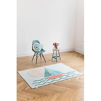 Rectangular carpet Boat baby room 121x170cm