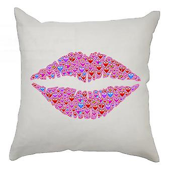 Emoji Cushion Cover 40cm x 40cm Kiss Of Hearts