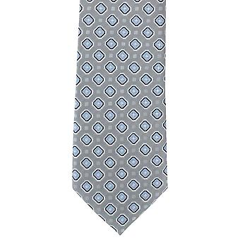 Michelsons of London Classic Neat Polyester Tie - Silver