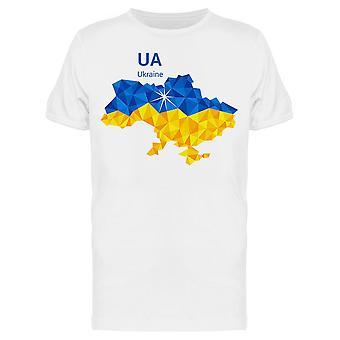 أوكرانيا خريطة العلم المضلع تي الرجال & apos;s -الصورة من قبل Shutterstock