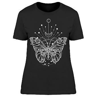 Symmetrisk design av Butterfly Tee Women's -Bild av Shutterstock