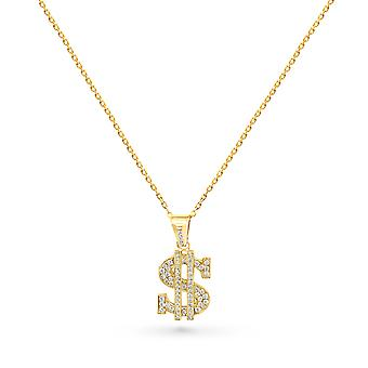Necklace Dollar 18K Gold and Diamonds - Yellow Gold