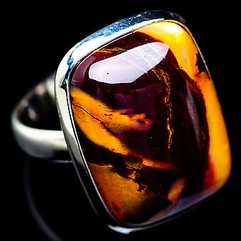 Mookaite Ring Size 9 (925 Sterling Silver)  - Handmade Boho Vintage Jewelry RING5417