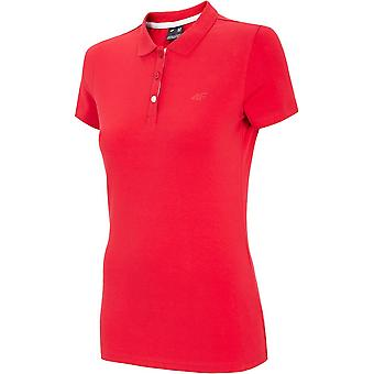 T-shirt universel été femmes 4F TSD008 NOSH4TSD008CZERWONY