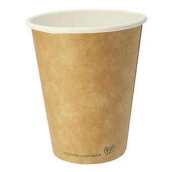Vegware Compostable Kraft Brown Hot Cups 8oz