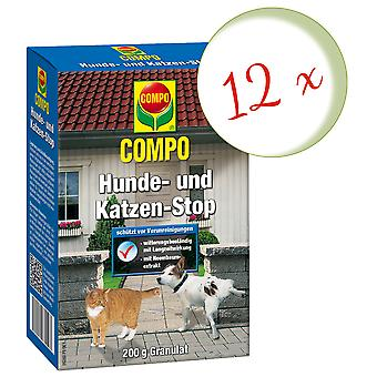Sparset: 12 x COMPO Dog and Cat Stop, 200 g