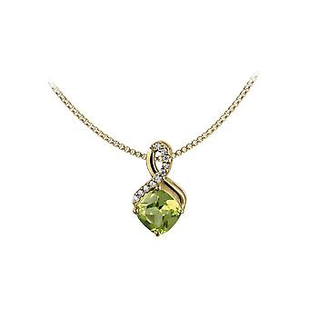 Jacques Lemans - Chain sterling silver plated with peridot - SE-C117G