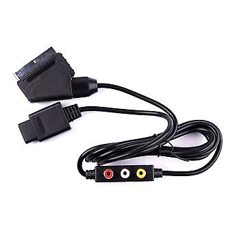 RGB AV HD TV SCART CABLE LEAD FOR NINTENDO GAMECUBE GC NGC WITH AV OUTPOUTS NEW