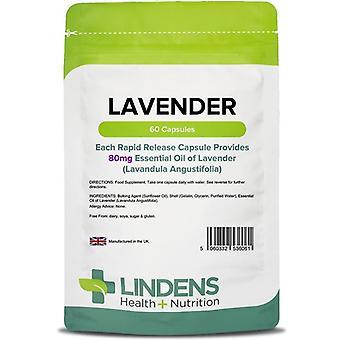Lindens Lavender 80mg capsules 60 (6061)