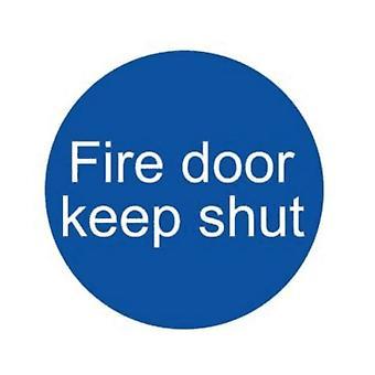 House Nameplate Co Fire Door Keep Shut Sign
