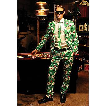 Poker Man kostym vuxen