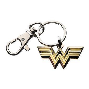 Wonder Woman Gull Symbol Emalje Nøkkelring