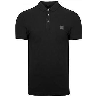 Boss Camisa polo de passageiro preto boss