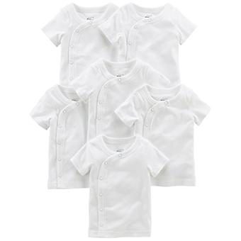 Simple Joys by Carter's Baby 6-Pack Side-Snap Lyhythihainen paita, valkoinen, pree...