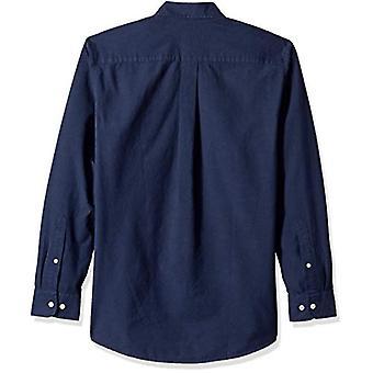 أساسيات الرجال & apos;ق العادية تناسب طويلة الأكمام الصلبة جيب قميص أكسفورد, نا ...