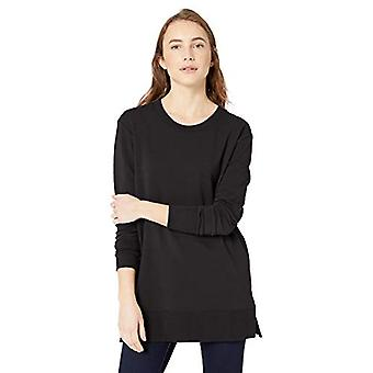 Brand - Daily Ritual Women's Terry Cotton and Modal Side-Vent Tunic, B...