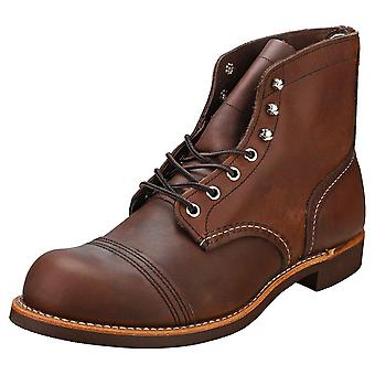 Red Wing Iron Ranger Mens Casual Boots in Amber