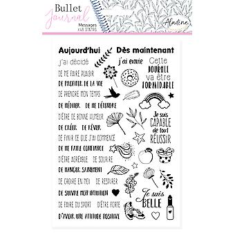Aladine Bullet Journal Mousse Timbres Messages