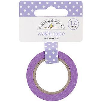 Doodlebug Design Lilac Swiss Dot Washi Tape