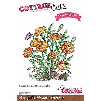 Scrapping Cottage CottageCutz Marigolds Flower - October