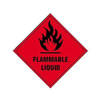 Scan Flammable Liquid SAV - 100 x 100mm SCA1850S