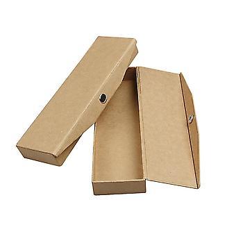 Caixas de lápis de papel único para decorar 21x6x2,5cm | Caixas de Papel Mache