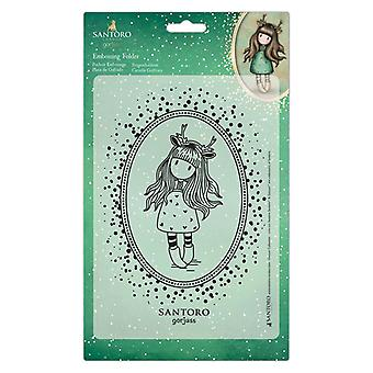 Gorjuss Embossing Folder A5 Doe Eyed