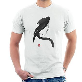 Geisha Woman Looking Right Men-apos;s T-Shirt