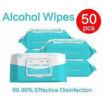 50pcs/box Disinfection Wipes Skin Care ,sterilization Alcohol Wipes Pads-