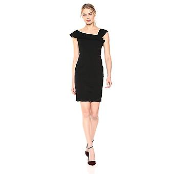Lerche & Ro Frauen's ärmellose kalte Schulter darted Mantel Kleid, schwarz, Größe 2.0