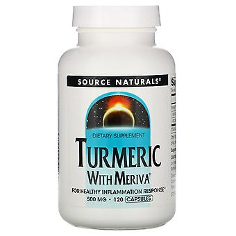 Fuente Naturales, Complejo de cúrcuma Meriva, 500 mg, 120 Cápsulas