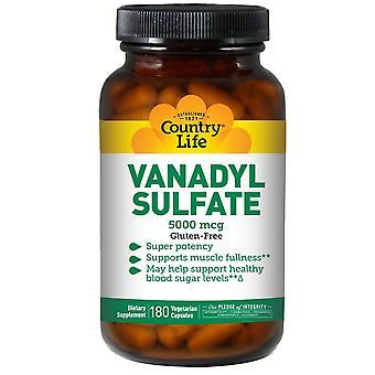 Country Life, VanadylSulfat, 5.000 mcg, 180 vegetarische Kapseln