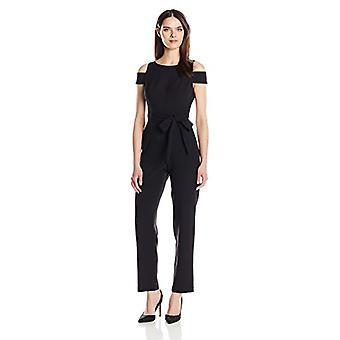 Vince camuto vrouwen ' s effen koude schouder jumpsuit, zwart, 4