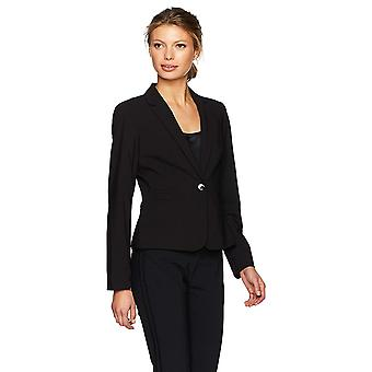 Calvin Klein naisten ' s yksi nappi Lux takki, musta, 2