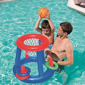 Panier gonflable géant de basket-ball et boule de coup vers le haut pour la piscine et l'eau
