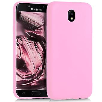 Shell voor Samsung Galaxy J7 (2017) DUOS Pink Matte TPU Protection Case