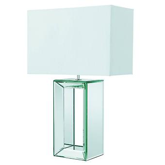 1 Ljusbordslampa Spegel med vit nyans, E27