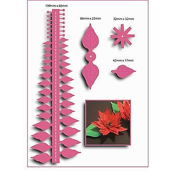 Kunst 'N Blumen Metall schneiden stirbt Weihnachten große Poinsettia